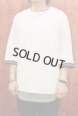 BEENUTS / 7SLEEVE REVERSIBLE TEE リバーシブルTシャツ/WHITE (BLACAK)