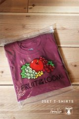 Hombre Nino|オンブレニーニョ ×FRUIT OF THE LOOM 2PACK TEE|BURGUNDY