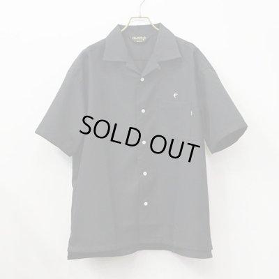 画像1: CLUCT|CW-OPN S-SH オープンカラーシャツ|BLACK
